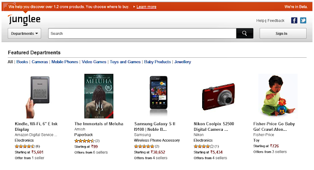 junglee Amazon Launches Online Shopping Service In India