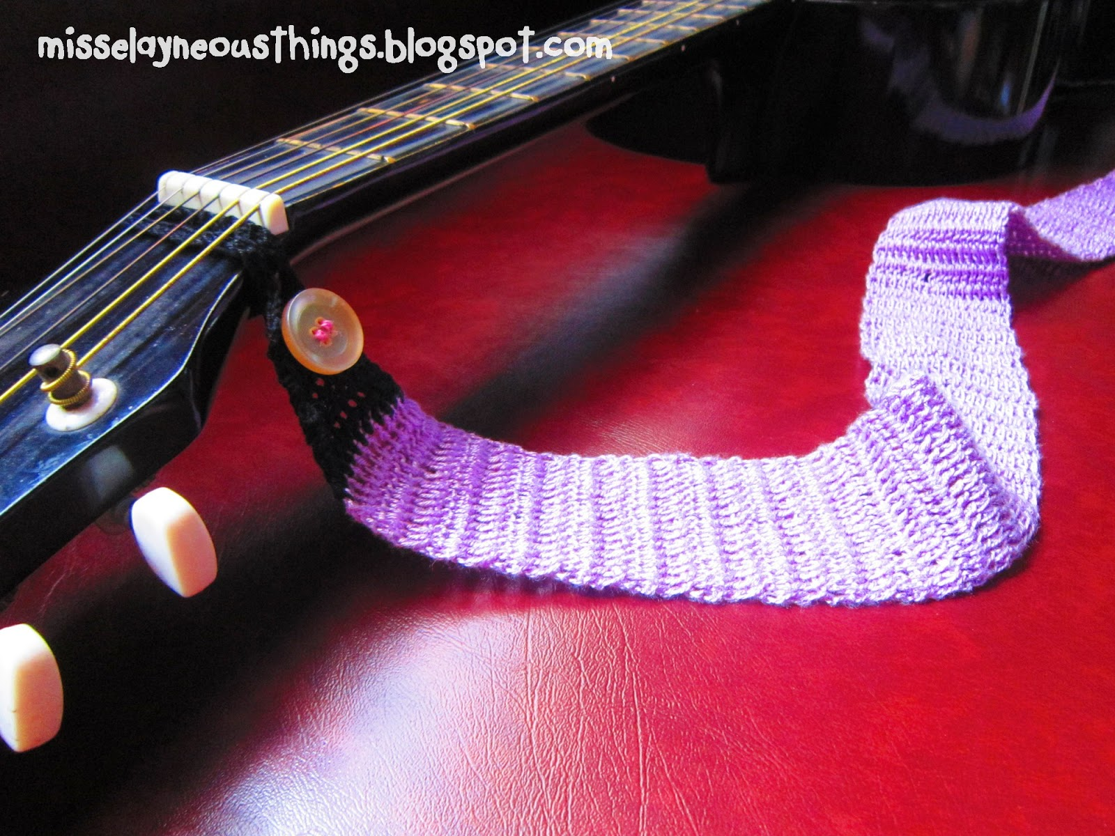 diy crochet your own guitar strap - a blog about misselayneous things