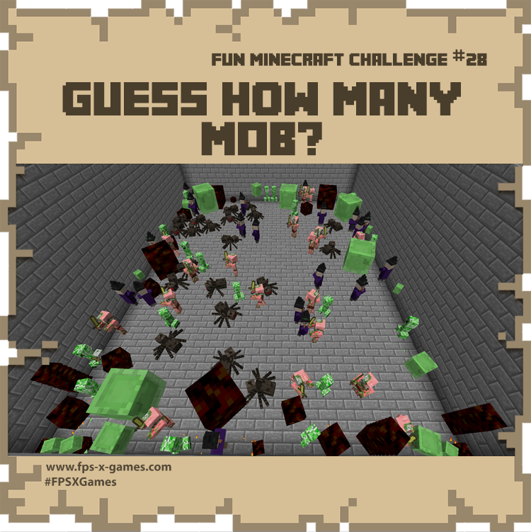 Guess how many Minecraft MOB are in the image?