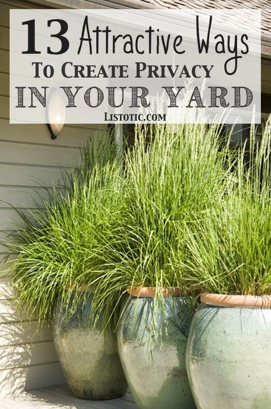 13 attractive ways to create privacy in your yard diy