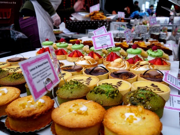 Cakes at Maltby Street Market, London