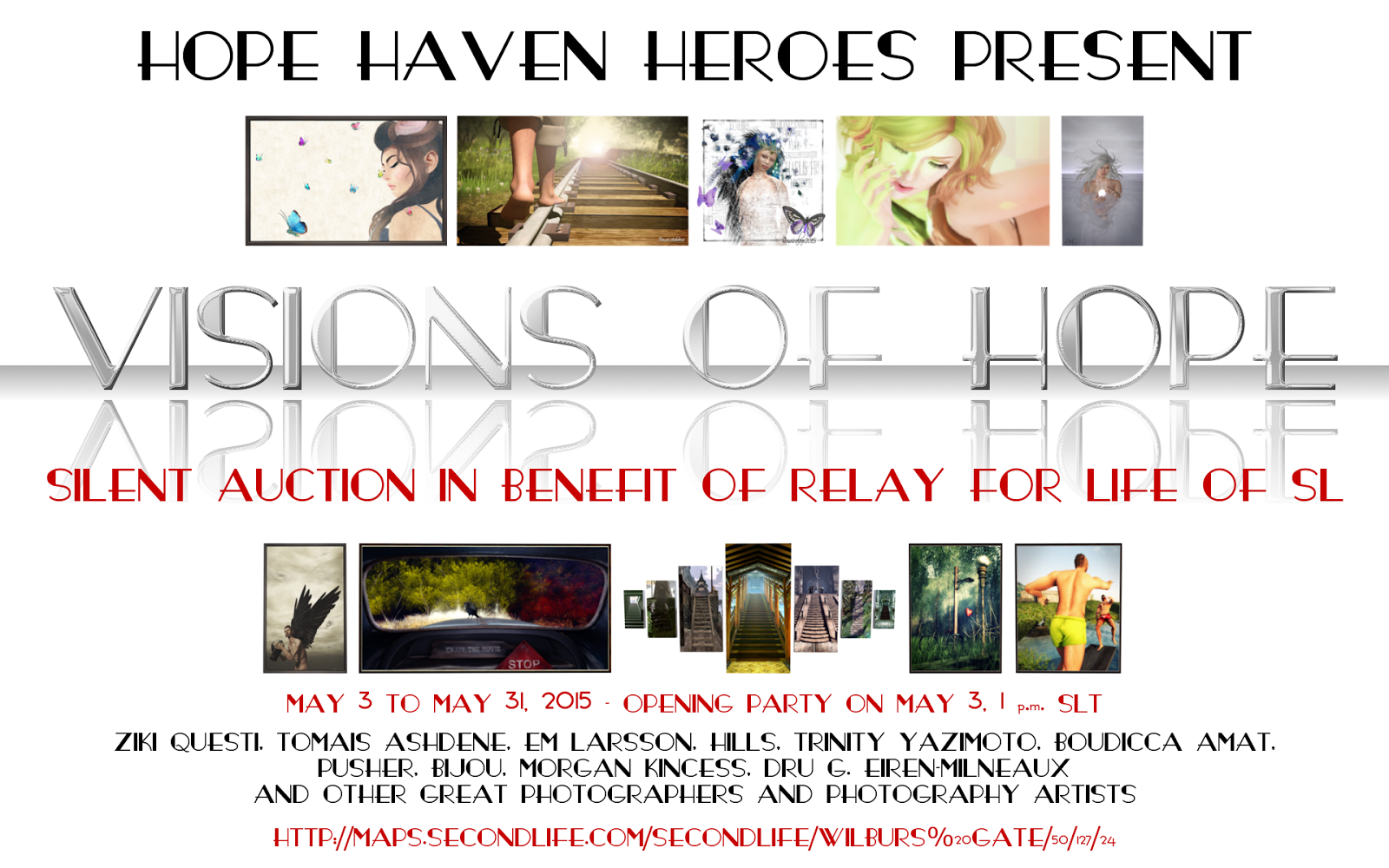 Visions of Hope<br>Silent Auction May 3-31, 2015<br>in benefit for RFL of SL