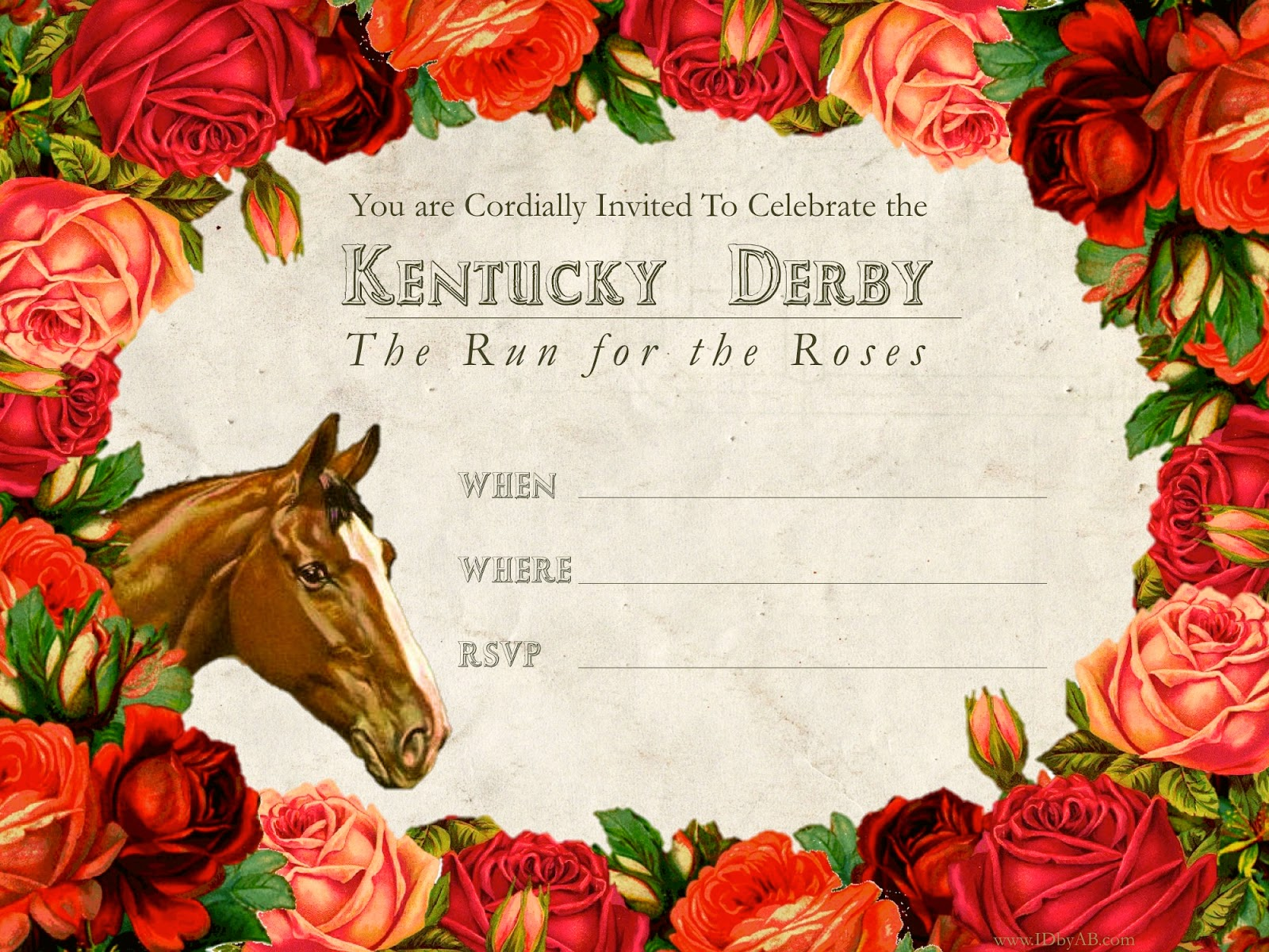 It's just an image of Bewitching Free Kentucky Derby Printables