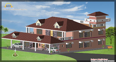 306 Square Meter (3298 Sq. Ft) House Elevation Design