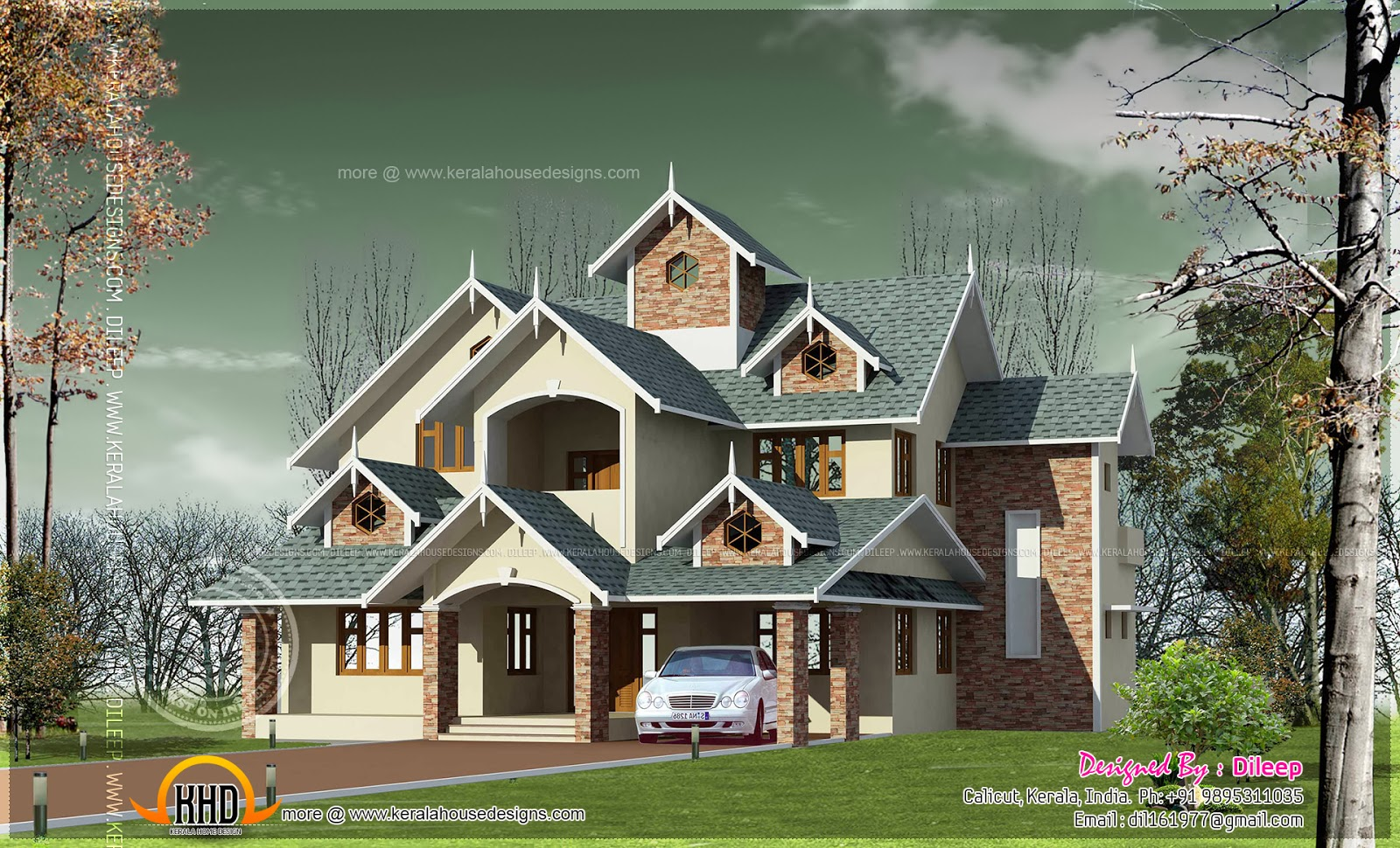 Victorian style vastu compliant home indian house plans for Victorian style