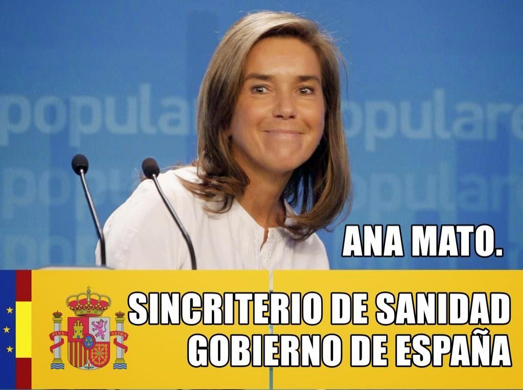Ana Mato y el desgobierno del ministerio de sanidad en diariodeuncanceroso.blogspot.com
