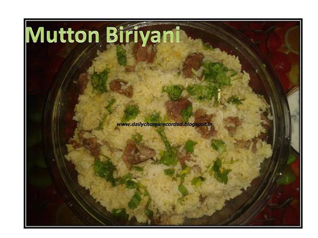 Mutton Biriyani- Anganan style