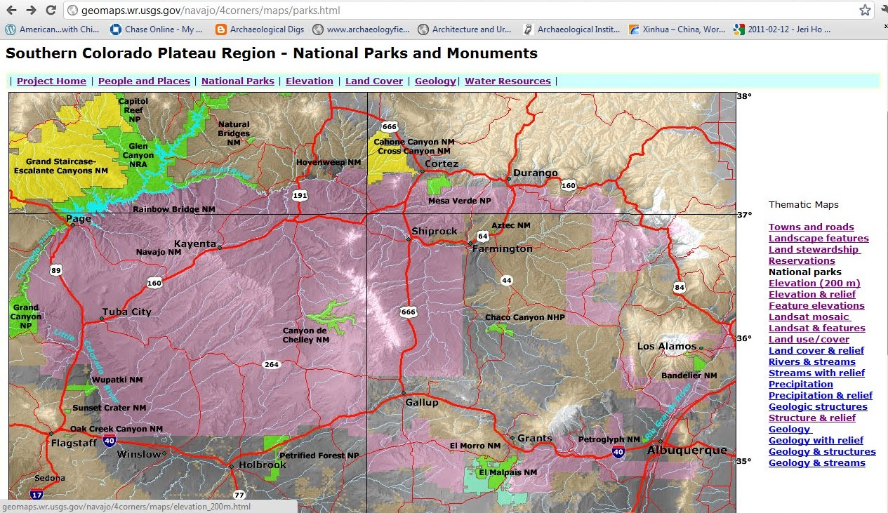 the purple is indian reservations hwy 160 going west from durango co to the grand canyon crosses dinetah