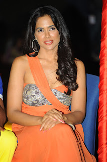 Indian Cinema Actress Sameera Reddy New Pics in Saree at CCL 2012 Curtain Raiser Event