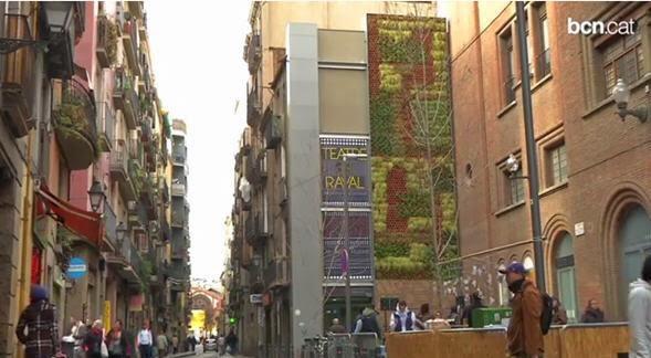 jardin vertical Barcelona