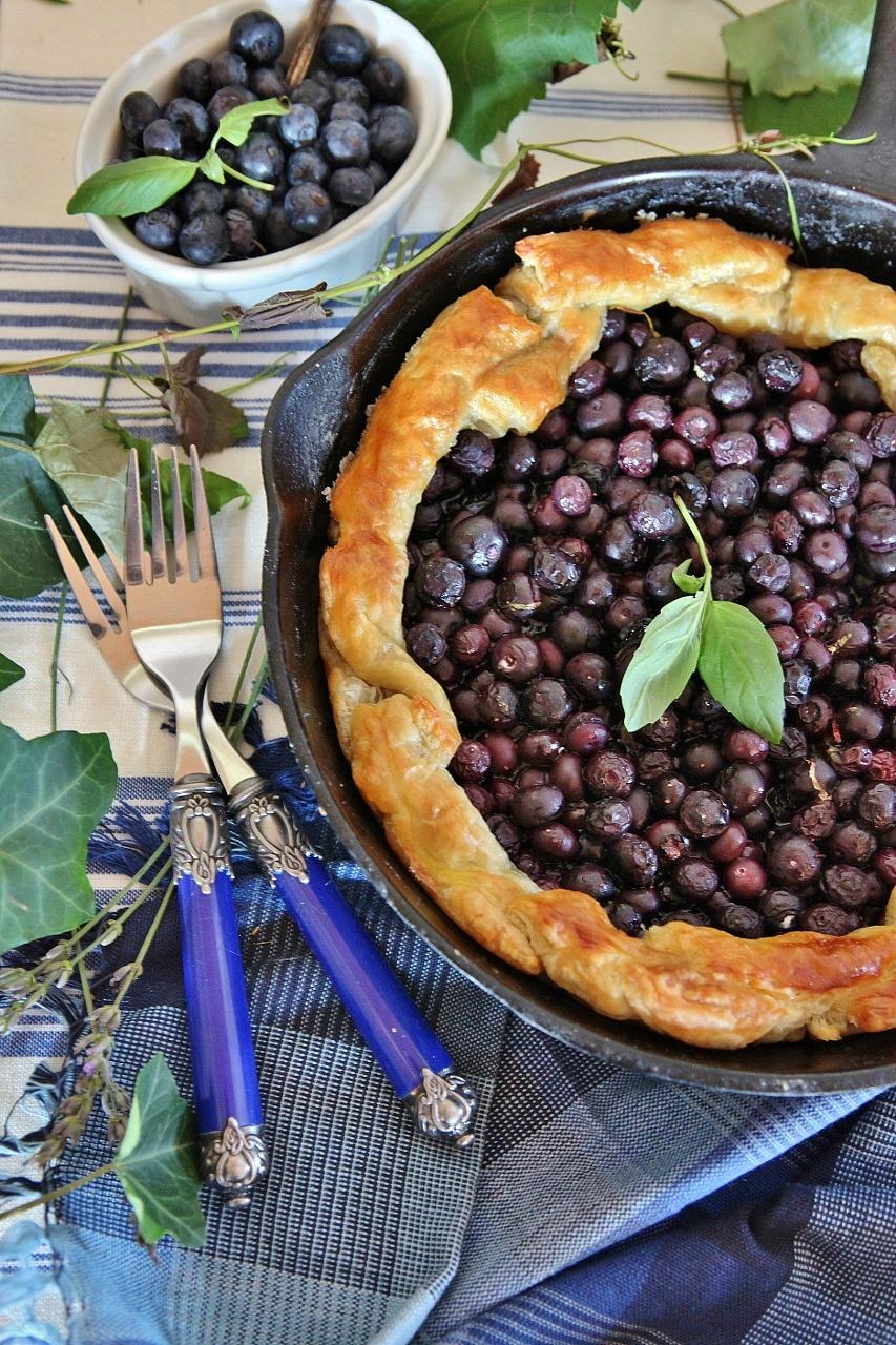 Blueberry Basil Galette