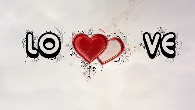Rode Liefdes Hartjes En Tekst Love In 3D   HD Liefde Wallpaper Foto