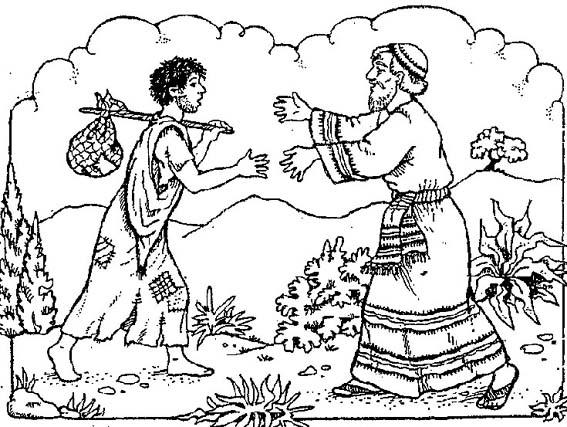 Portal Escuela El hijo prodigo regresa a la casa de su padre. Dibujo ...