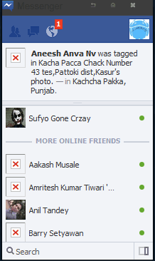 how to turn on mobile private message notification on facebook