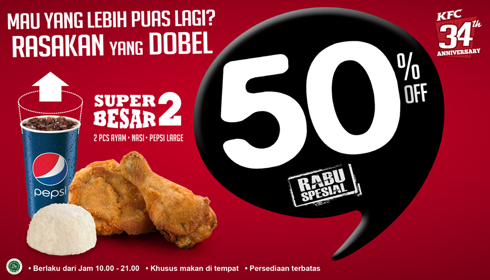 Harga KFC Super Besar 2 Terbaru | Pusat Daftar Harga