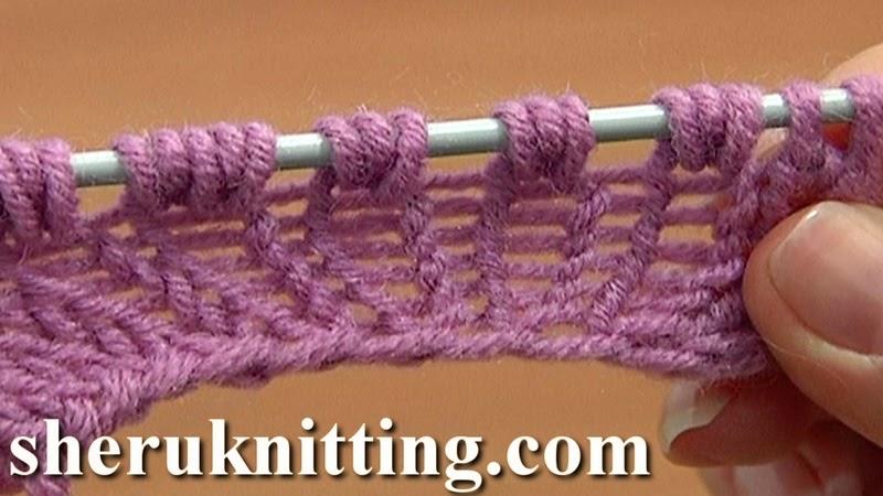 Sheruknitting: Increase Knit 1 Yarn Over Knit 1 Tutorial 8 Part 9