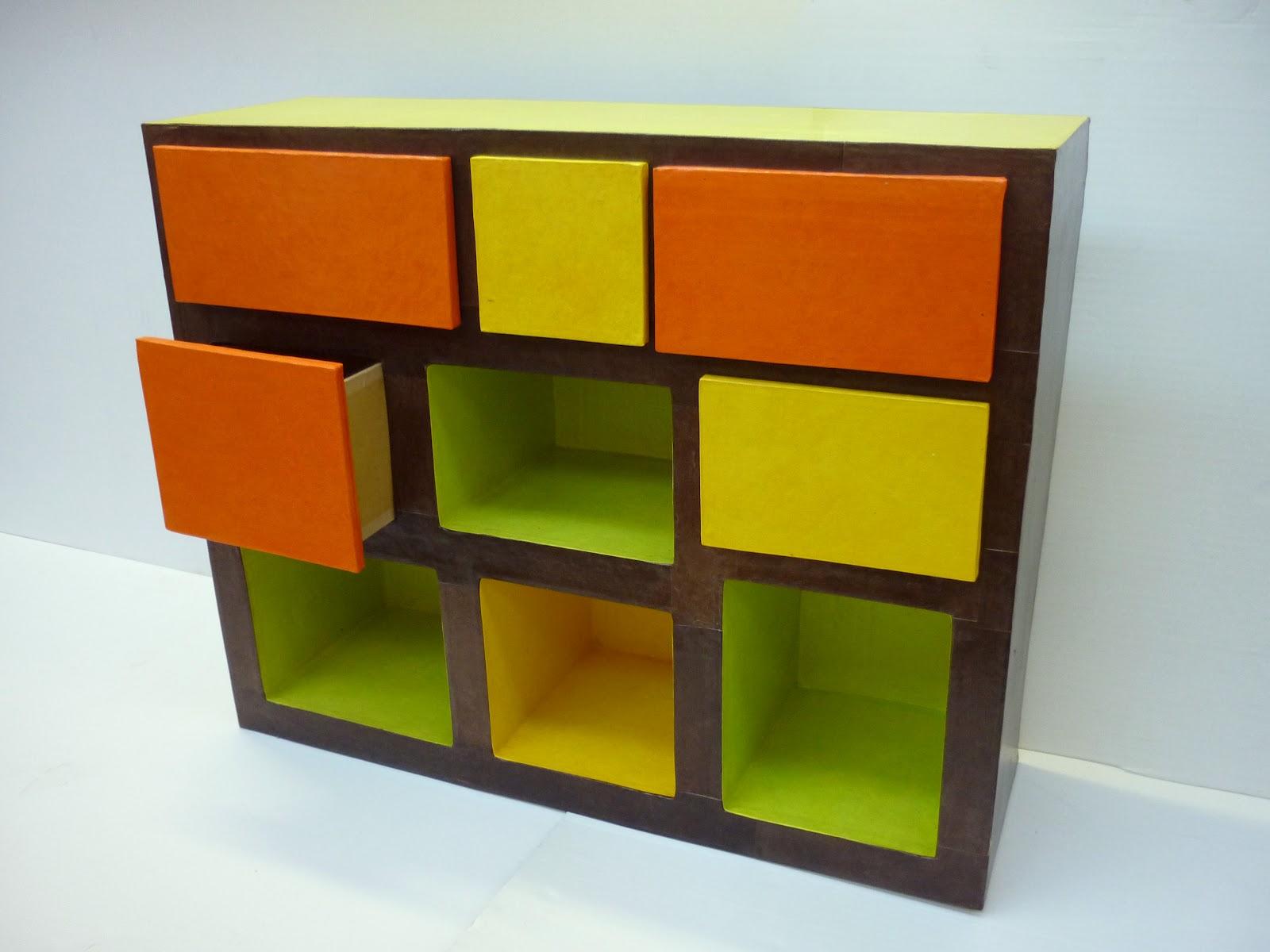 carton et compagnie meuble 5 tiroirs et 4 casiers. Black Bedroom Furniture Sets. Home Design Ideas