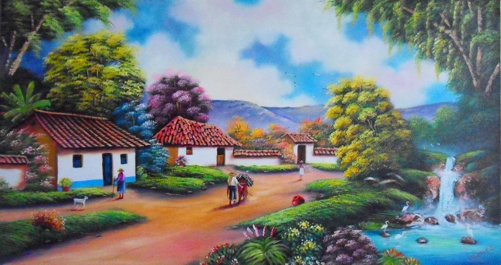 Cuadros modernos pinturas y dibujos nuevos paisajes - Cuadros del corte ingles ...