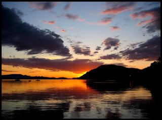 Sunset Photo from Mayne Island BC Canada