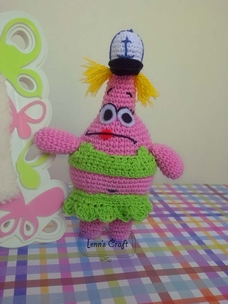 Patrick Star Amigurumi Pattern : Lenns Craft ? Handmade doll? Amigurumi ? : Patrick Star ...