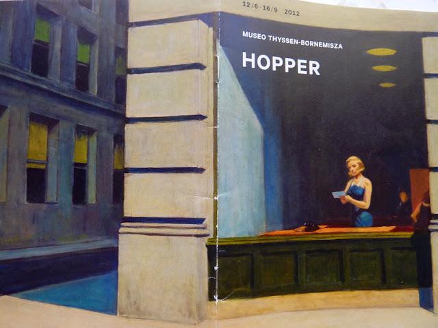 Folleto de Hopper en el Museo Thyssen