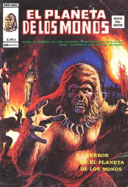 Portada de Planeta de los Monos Volumen 2 Nº 13 Ediciones Vértice