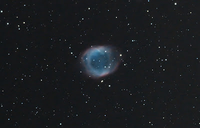 The Helix Nebula taken with Explore Scientific 80mm and Canon Xsi