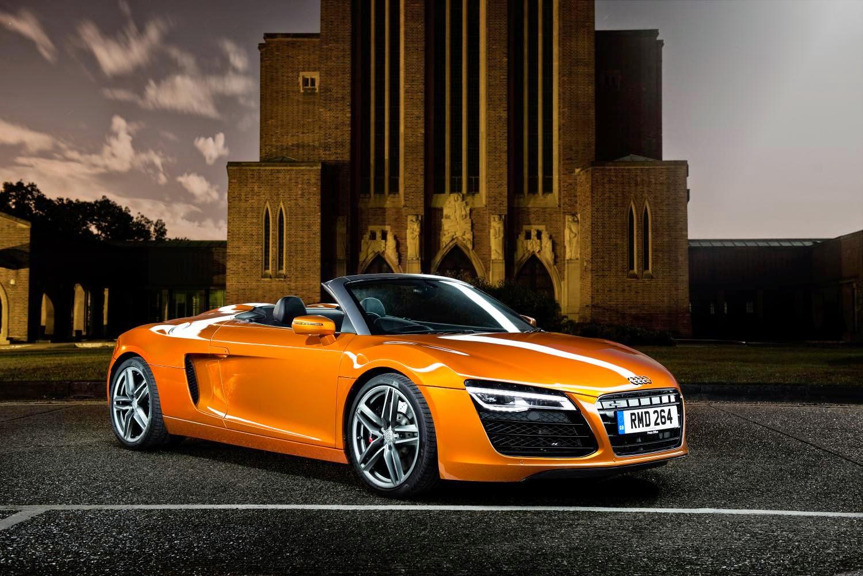 Orange Audi R8 Convertible