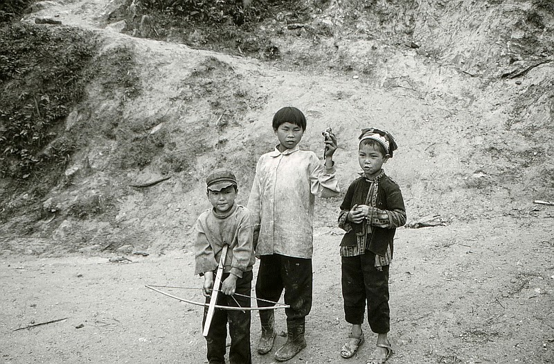 Boys of the Hmong (Miao) tribe in northern Vietnam