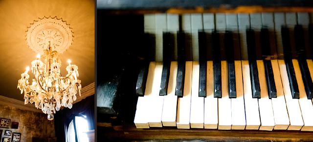 lampara antigua y piano