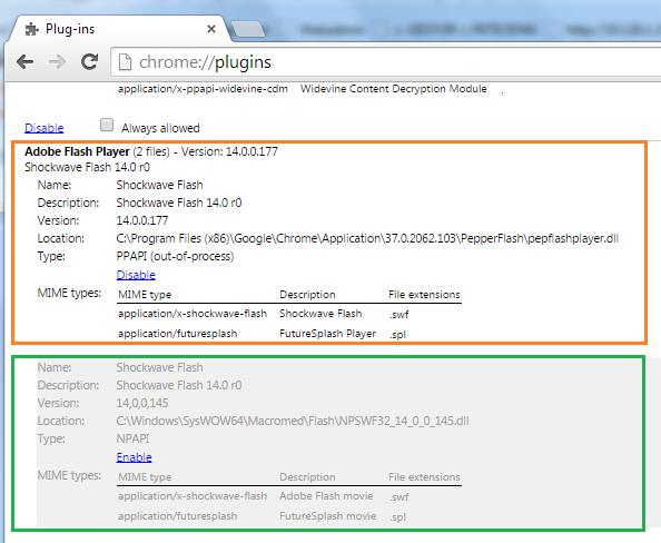 VMWare: vSphere Web Client con Google Chrome (Seleccionar el plugin a utilizar)