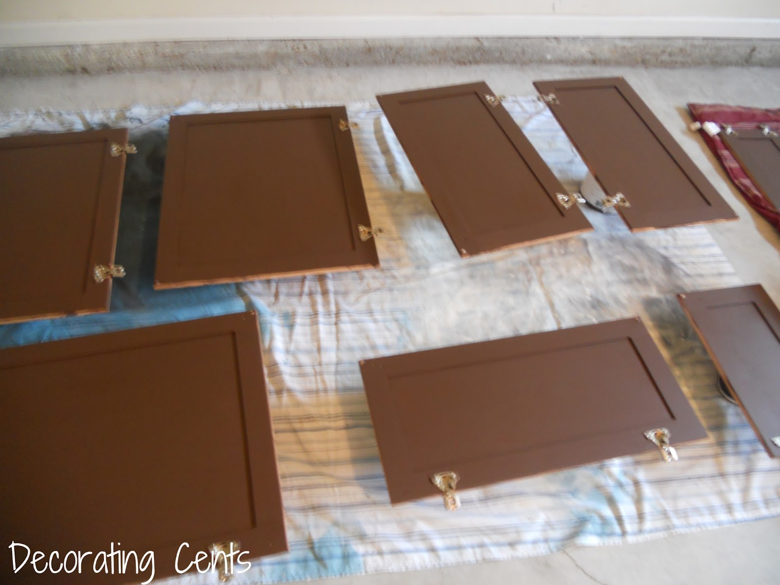 brown painted kitchen cabinets. How To  Painting The Kitchen Cabinets Decorating Cents