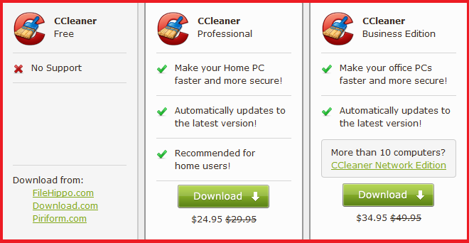 ����� ����� � ����� ������� �� ��� ����� �� ������ 3.22.1800 CCleaner Pro + Business