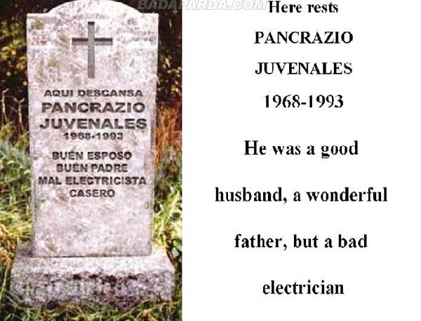 funny tombstones. Funny Tombstones and Grave