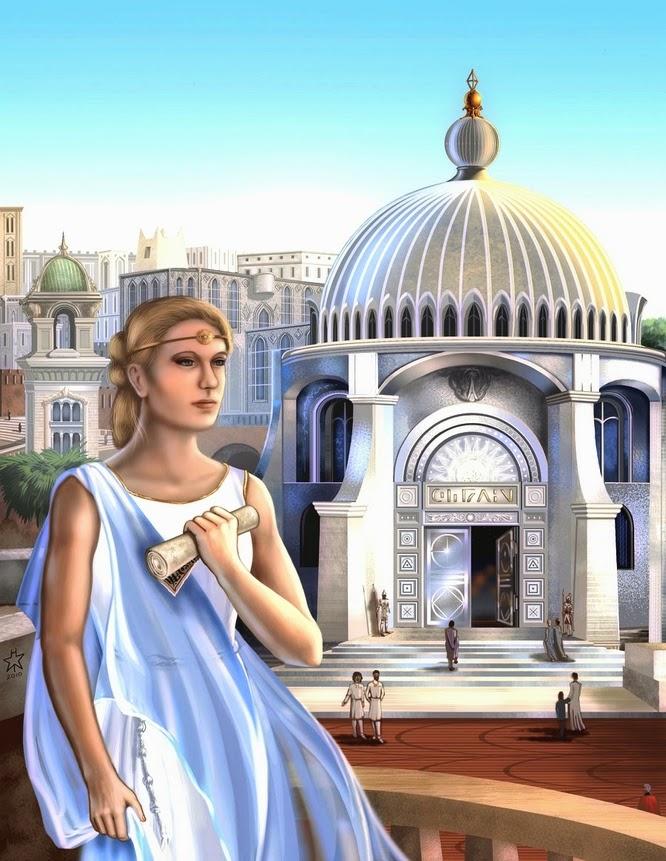 Templo atlante, Atlântida