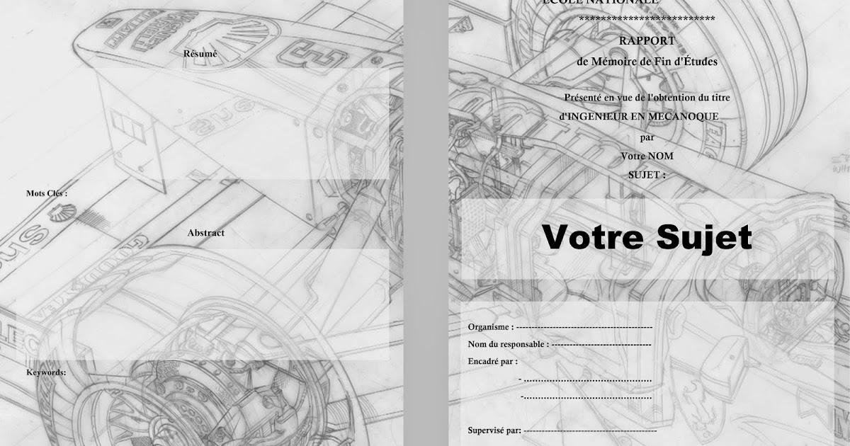 docx  page de garde pour un rapport de stage