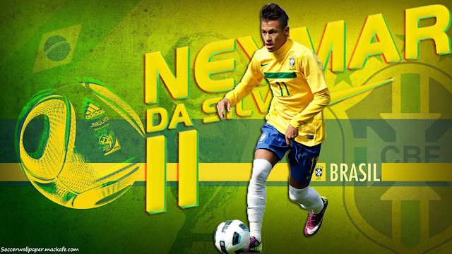 Wallpaper Neymar Da Silva Brazil HD 2013