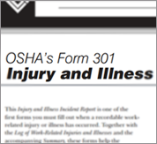 OSHA Form 301 Injury and Illness Record Image