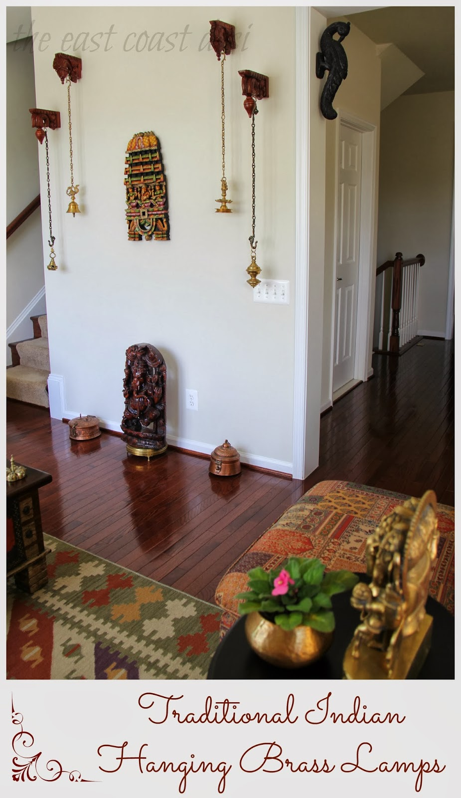 The east coast desi my living room a reflection of india for Traditional home decor