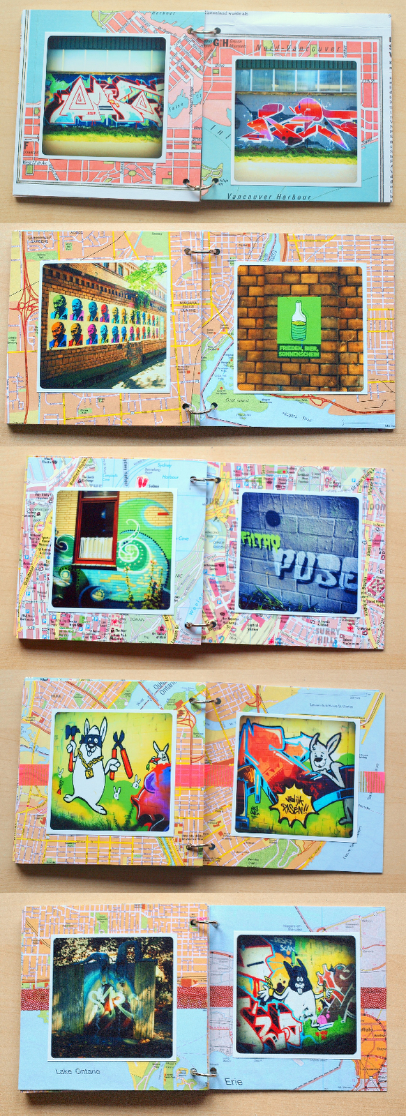 streetart minialbum pages by momentstolivefor