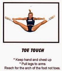 Hyperextended toe touch drills