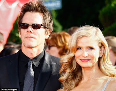 Kevin Bacon and wife Kyra Sedgwick Kissing Cousins