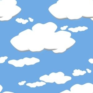 Fondo caricaturesco de nubes.