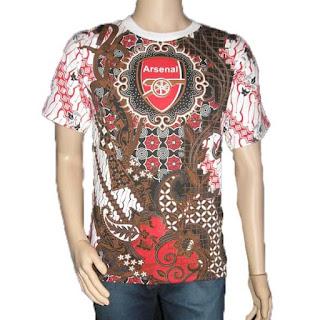kaos batik bola Arsenal