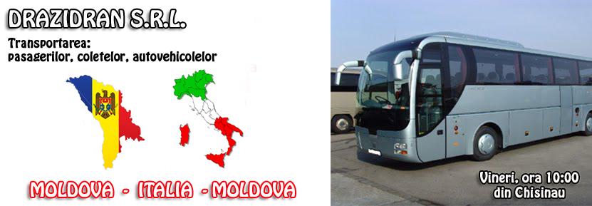 Transport Moldova - Italia - Moldova