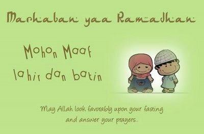 Bulan Ramadhan 2011 Jadwal Puasa Ramadhan 2011