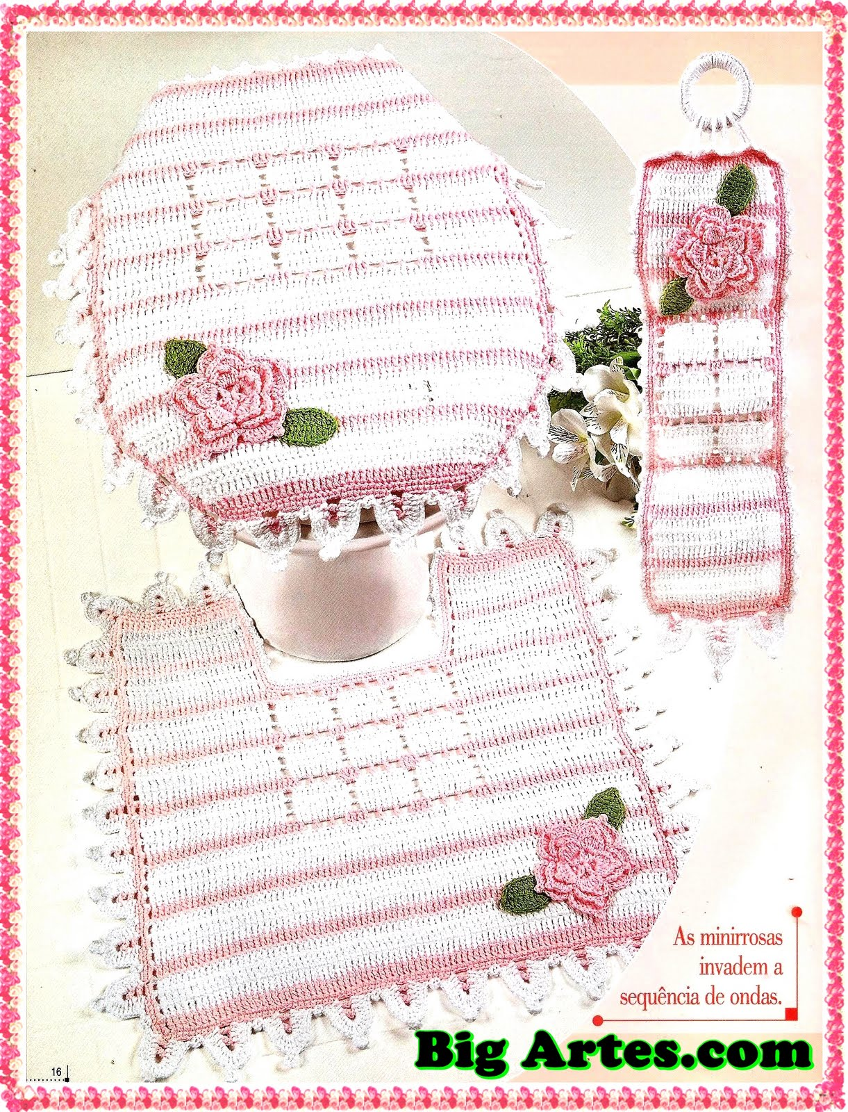 Kit Para Banheiro Artesanato ~ Tapete de banheiro de croche Artesanato e Croche