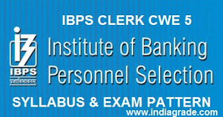 IBPS Clerk 2015 Syllabus and Exam Pattern