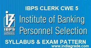 IBPS Clerk 2015 Syllabus and Exam Pattern