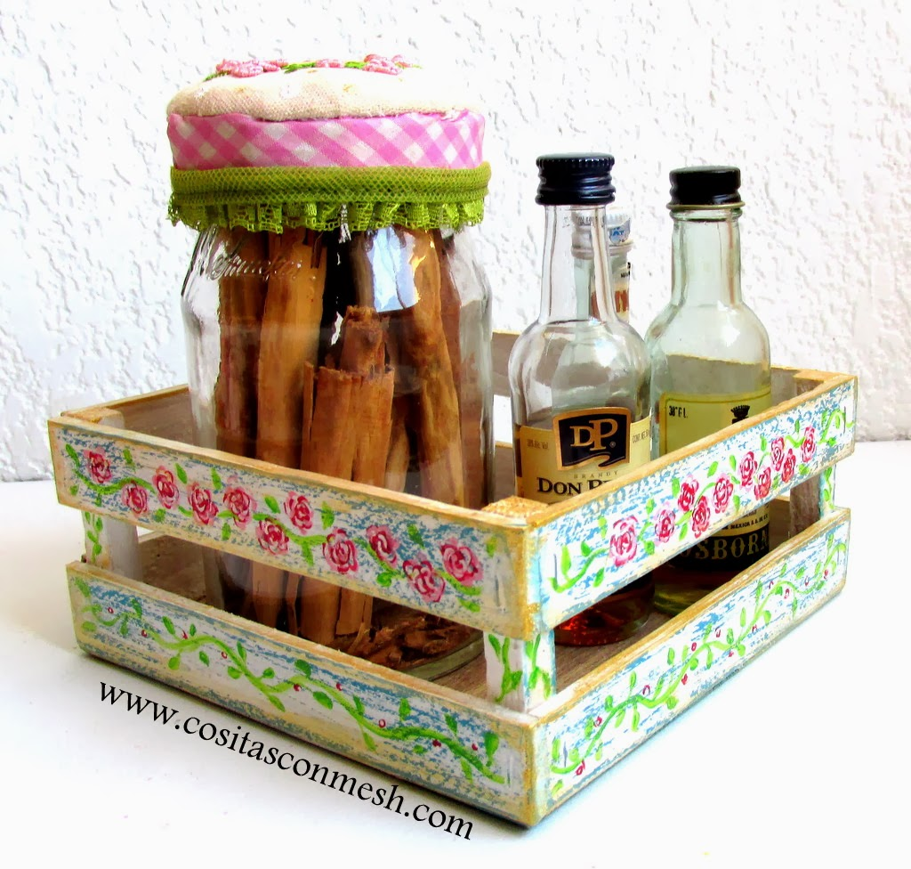 Manualidades cajitas decoradas para la cocina cositasconmesh - Manualidades con madera faciles ...